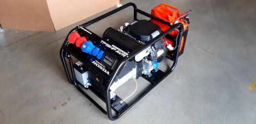 Rámová profesionální elektrocentrála TP 15 HP AVR s podvozkem