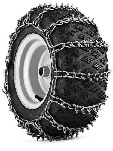 """Sněhové řetězy čtyřhranné, bez hřebů, na pneumatiky 18x8,5-8"""", pár, pro traktory. Poskytují spolehlivou trakci při odklízení sněhu"""